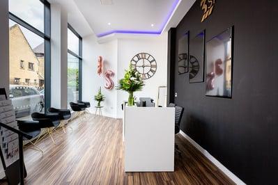 Image of reception area, luxury dental clinic 3 Step Smiles Glasgow